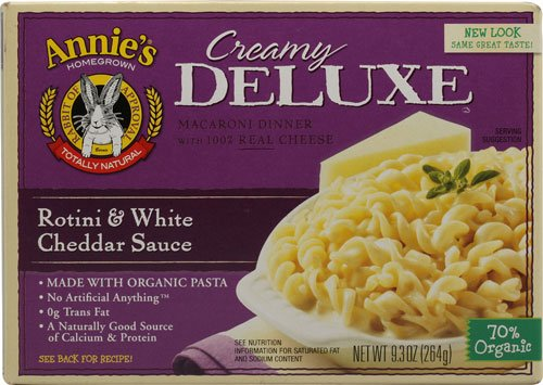 Deluxe Creamy (Annie's Homegrown Creamy Deluxe Macaroni Dinner Rotini White Cheddar Sauce -- 9.3 oz - 2 pc)