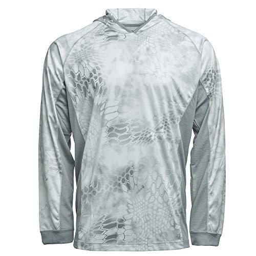 Kryptek Zephyr Camo Hunting & Fishing Hoodie (K-Ore Collection), Wraith/Wolf Grey, XS
