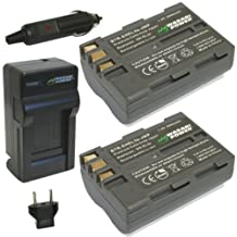 Wasabi Power KIT-BTR-ENEL3e-LCH-ENEL3-01 Battery and Charger for Nikon EN-EL3e (Gray)