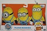 Despicable Me 2 Plush Buddies Exclusive 3-pack with Minion Stuart, Minion Bob and Minion Kevin