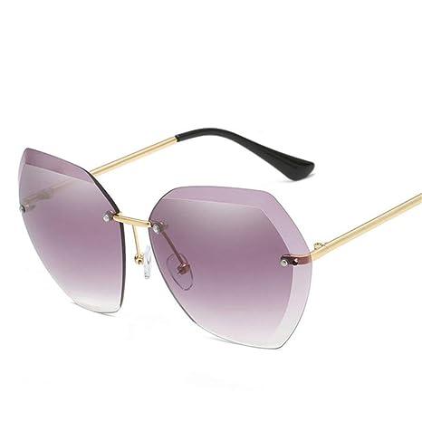Yangjing-hl Gafas de Sol sin Montura de Gran tamaño Mujeres ...