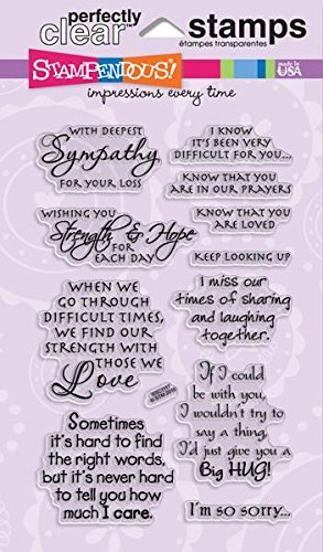 Stampendous SSC1117 Perfectly Clear Stamp, Sincere Sentiments by STAMPENDOUS