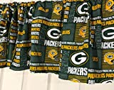 valances for bay windows Green Bay Packers Football Curtain Valance