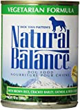 Natural Balance Canned Dog Food, Vegetarian Recipe, 12 pack of 13 ounce cans