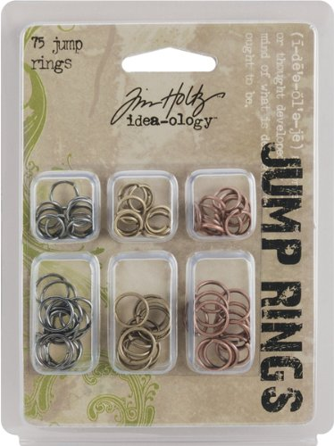 Tim Holtz Idea-Ology Jump Rings-75/Pkg 1 pcs sku# 624115MA ()