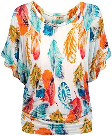 HyBrid & Company Womens Super Comfy Boat Neck Dolman Top Shirt