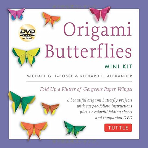 Origami Butterflies Mini Kit: Fold Up a Flutter of Gorgeous Paper Wings! [Origami Kit with Book, DVD, 40 Papers] (I Go To America compare prices)