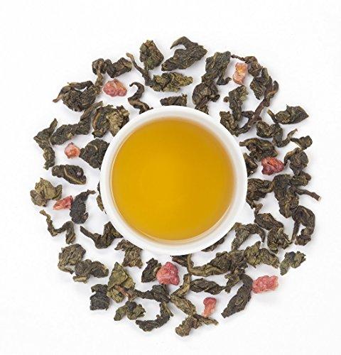 Raspberry Oolong Tea 3 oz, By Higher Tea (40 Cups) Certified Organic Premium Loose Leaf Tea
