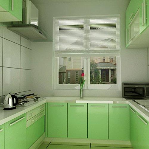 KINLO® selbstklebende folie küche Grün 61x500cm Tapeten küche aus ... | {Küchenschrank folie 5}