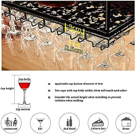 Soportes para Copas de Vino,Colgante Sostenedor del Vidrio de Vino,Sostenedor del Vidrio de Vino,Creativo Estante de Copas de Vino Debajo del Gabinete,Vino Copa Colgante,Bar Escritorio Bar Club Cocina