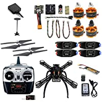 QWinOut 2.4G 8CH Mini RC Quadcopter ARF RTF Unassemble DIY Drone FPV Upgradable w/ Radiolink Mini PIX M8N GPS Altitude Hold (360 ARF Unassemble)
