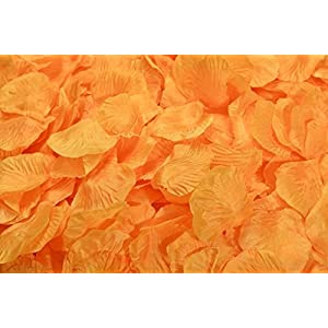 Lorraine Wedding Table Decoration Silk Rose Petals Flowers Confetti (2000, Orange) 51