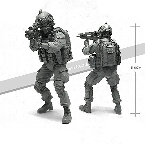 - Military Model 1/35 USA USMC Marine Corps Soldier M4 Gun Tactical ACU Body Armor
