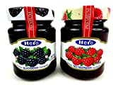 Hero Premium Fruit Spreads 2-Flavor Variety: One 12 oz Jar Each of Blackberry and Raspberry in a BlackTie Box (2 Items Total)