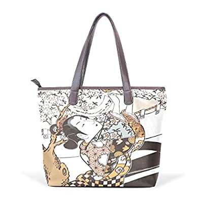 821774f9b2 hot sale Ukiyoe Ukiyo-E Print Japanese Art Women s Fashion Large Shoulder Bag  Handbag Tote