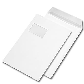 Versandtasche Din C4 Haftklebend Weiß Mit Fenster 55 X 90 Mm