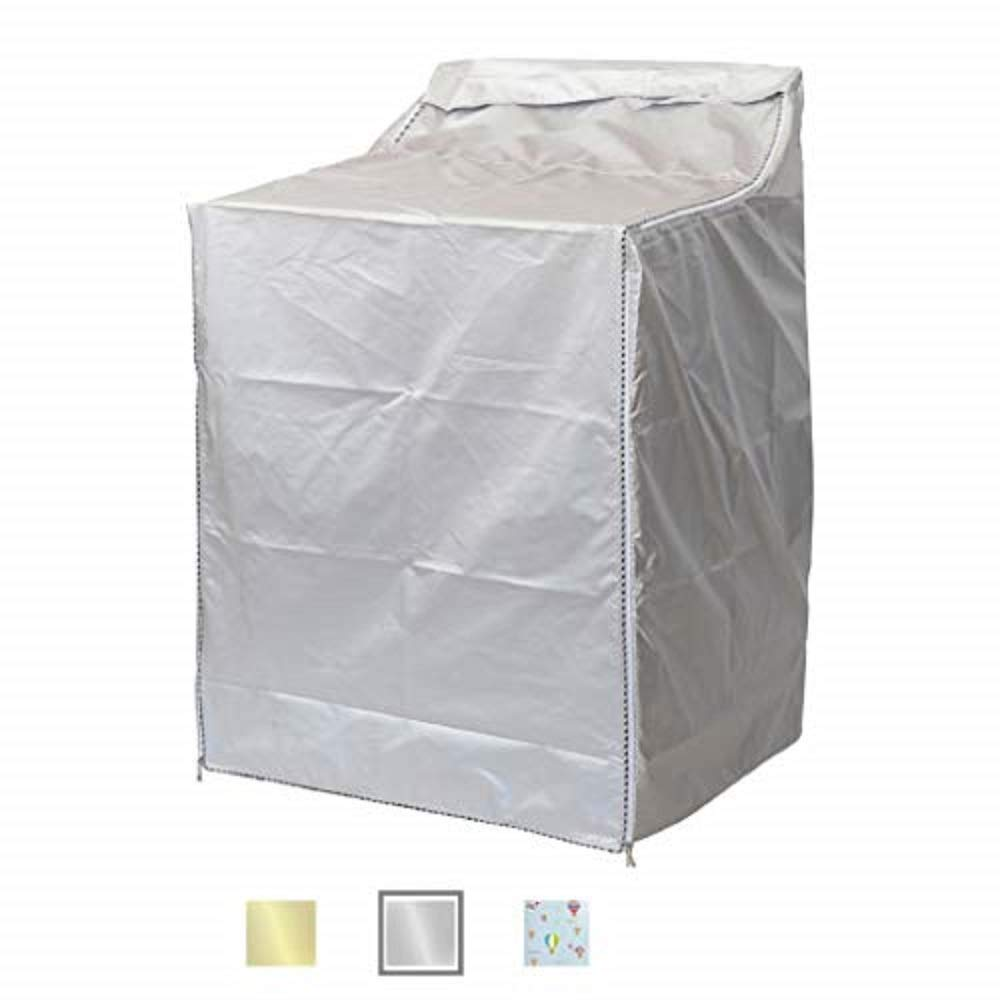 "QLLY Washer/Dryer Cover for Top-loading Machine – Waterproof, Dustproof, Sun-Proof, W29""D28""H43"" Suitable for most Washers/Dryers on US and Canadian market (Basic Silver)"