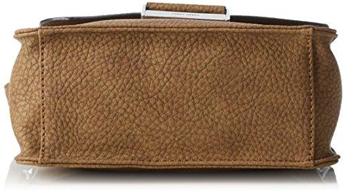 GERRY WEBER Talk Different Ii Flap Bag V, M - Bolso bandolera Mujer Cognac (Braun)