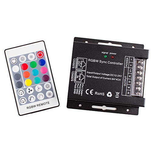 - LEDUPDATES Heavy Duty RGBW LED LIGHT CONTROLLER with remote control 4 channel for RGB RGBW LED Light Strip Compatible with 12v 24v Power Supply LED Driver AC adapter