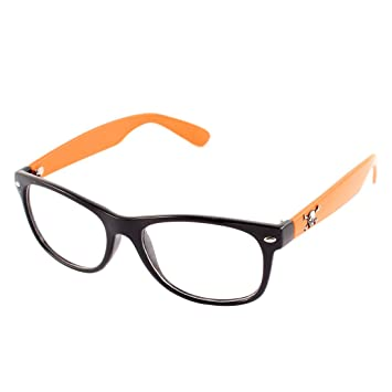 2e683b07eee0 Image Unavailable. uxcell Lady Decor Plain Glasses Spectacles Eye Protector  Yellow Black