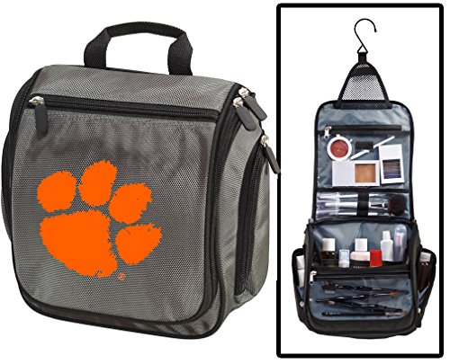 Clemson University Toiletry Bags or Mens Shaving Kits HANGABLE Travel Bag