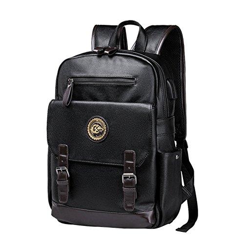 hombres la B B computadora Al Moda cuero Bolsos aire mochila casual de Los libre mochilas Bolso de de dwxHanqUP