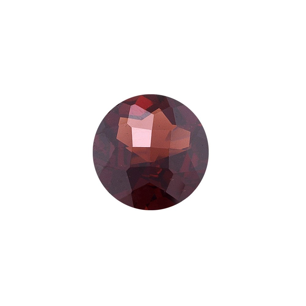 Mysticdrop 5.00 Cts of 10x10 mm AAA Round Checker Board Mozambique Garnet (1 pc) Loose Gemstone