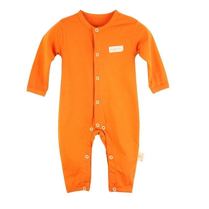 Bebé niñas Cuello Redondo Manga Larga Pelele Pijama Mono de Una Pieza: Amazon.es: Ropa y accesorios