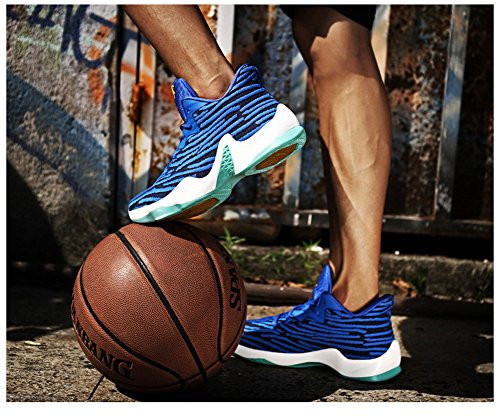 Jiye Performance Sport Shoes Mens Sneakers Da Basket Moda Blu
