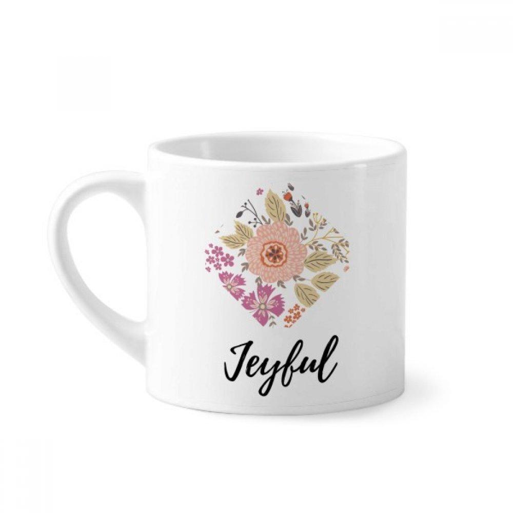 DIYthinker Planta de la Flor de la Dalia Pintura Mini Taza Blanca cerámica Taza de cerámica con la manija 6 oz Regalo: Amazon.es: Hogar