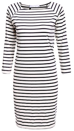 POGT Casual Sleeve Striped T shirt