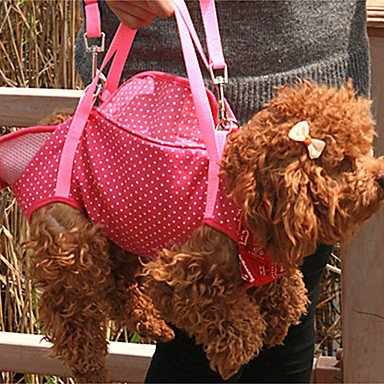 Quick shopping Dot Print 4-Leg Soft Travel Portable Outdoor Carrier Bag for Pets Dogs (Assorted colors) , Purple , M