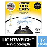 Purina Tidy Cats Light Weight - Dust Free - Clumping Cat Litter - LightWeight 4-in-1 Strength Multi Cat Litter - 17 lb. Box