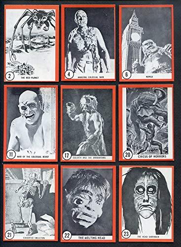 1963 Donruss Rosan Famous Monsters Complete Set 364475 Kit Young Cards