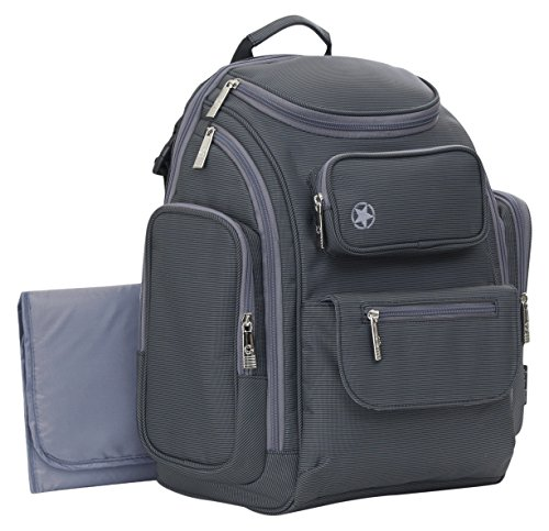 Jeep Perfect Pockets Back Pack Diaper Bag, Grey