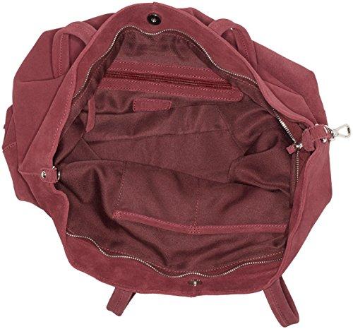 Cinque Carla - Bolso de mano Mujer Rojo (Burgundy)