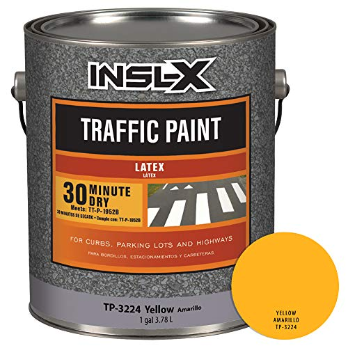 INSL-X TP322409A-01 Acrylic Latex Traffic Paint, 1 Gallon, - Marking Paint Traffic