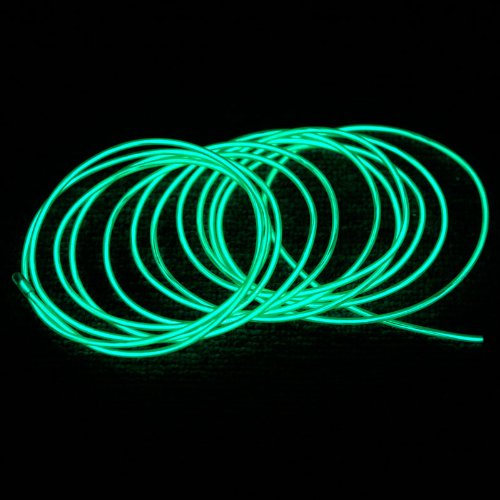 Docooler 3M Flexible Neon Light EL Wire Rope Tube with Controller Great Decoration for Car, Party, Christmas Trees,Clubs Variety of Colors (Green)