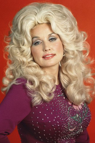 Dolly Parton Color Long Blonde Hair 70 S 24x36 Poster At