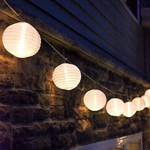 Outdoor Paper Lantern String Lights in US - 1