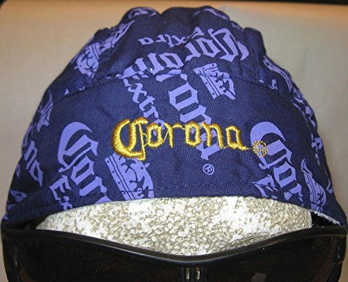 Officially Licensed Embroidered Corona Extra Beer Yellow Blue Head Wrap Doo Rag Mesh Lined Sweatband Skull Cap Durag
