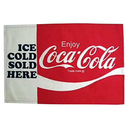 Coca Cola Coke Kitchen Towel   Ice Cold Sold Here Style By Pacific  Enterprise