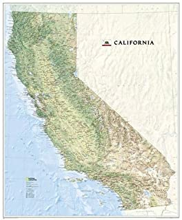 Amazoncom California Topographic Wall Map Very Large By Raven - Map of califirnia