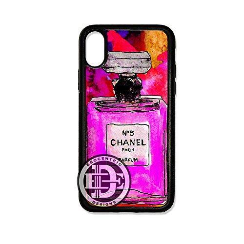 - (iPhone XR) EGOCENTRIC DESIGN & CO. Pink Perfume Art TPU Rubber Silicone Phone Case