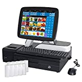 #6: ZHONGJI New Double Screen Point of Sale System, Touch Screen Cash Register, Pos Terminal,(Intel J1900 2.4GHz/64G SSD/4GB RAM) With Cash Drawer, 80 Thermal Printer(A7-SET01)