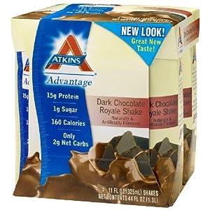 Advantage Ready to Drink Shakes, Dark Chocolate Royale Shake, 11 oz, 24 shakes, 1 case
