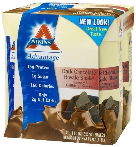 Advantage Ready-to-Drink Shakes, Dark Chocolate Royale Shake, 11 oz, 24 shakes, 1 case