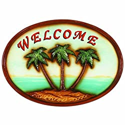 RAM Gameroom Products Outdoor Decor Sign, Welcome Palm Trees