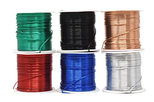 - Mandala Crafts 12 14 16 18 20 22 Gauge Anodized Jewelry Making Beading Floral Colored Aluminum Craft Wire Wholesale Combo (20 Gauge, Combo 9)