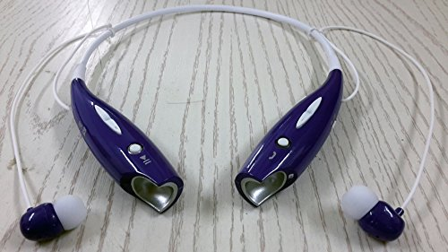 Read About Soundbeats Universal Hbs-730 Wireless Music A2dp Stereo Bluetooth Headset Universal Vibration Neckband Style Headset Earphone Headphone for Cellphones Such As Iphone, Nokia, Htc, Samsung, Lg, Moto, Pc, Ipad, PSP and so on & Enabled Bluetooth (730 purple)